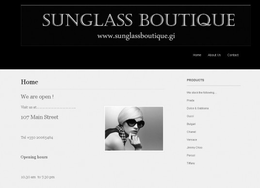 Sunglass Boutique 536x388 Portfolio